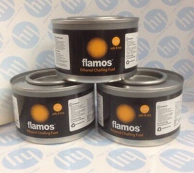 £5.60 • Buy 3 X Flamos Ethanol Chafing Fuel Catering 2.5 Hours 74197 BBQ Buffet Gel Camping