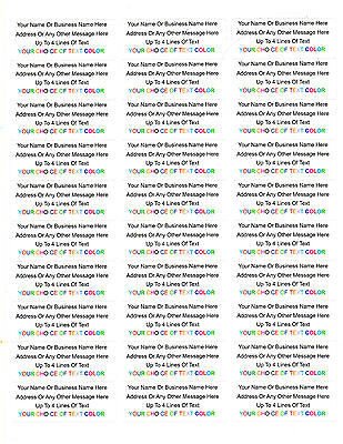$7.49 • Buy 450 Personalized Return/Mailing Address Labels - 1  X 2.625  - Free USA Shipping