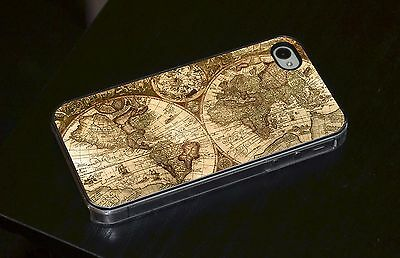 Early Map World Atlas Artwork Phone Case Fits IPhone 4 4s 5 5s 5c 6 • 6.93£