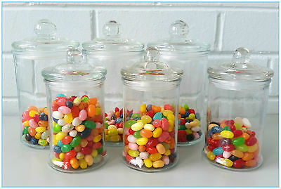 12 SET Glass Apothecary Candy Lolly Buffet Jar Candle Waxing, Wedding & Party • 14.09£