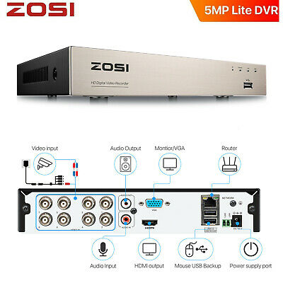 AU159.59 • Buy ZOSI 1080P 8CH DVR Recorder 2MP CCTV Home Security Camera System 1TB Hard Drive