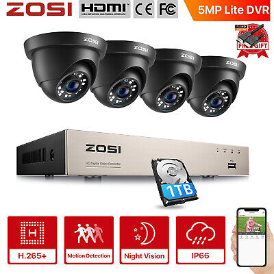 AU246.95 • Buy ZOSI 1080P CCTV Security Camera HDMI 8CH DVR Video Home Outdoor IP System Metal
