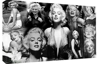 £23.49 • Buy Large Marilyn Monroe 100% Cotton Canvas Picture Collage Wall Art - All Sizes