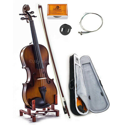 $85.99 • Buy Solid Maple Spruce Wood Fiddle Violin 4/4 Full Size W Case Bow Rosin String