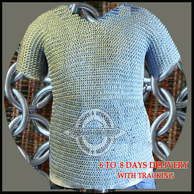 £60.24 • Buy Butted Aluminium Chainmail Shirt Aluminum Chain Mail Haubergeon Medieval Armour.