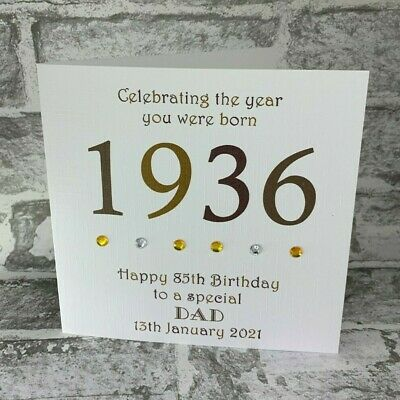£3.95 • Buy 85th 1936 Year You Were Born Birthday Card Personalised  6  Dad Uncle Gramps Bro