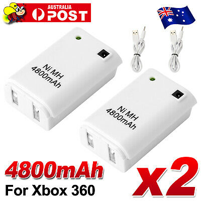AU9.85 • Buy 2x Rechargeable Battery USB Charger Cable For XBOX 360 Wireless Controller