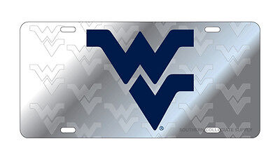 $ CDN33.80 • Buy WVU WEST VIRGINIA Mountaineers Deluxe Symbol Back Mirrored License Plate/Car Tag