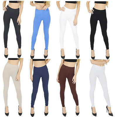 £3.49 • Buy  UK Thick Cotton Full Length Leggings All Colours And Sizes