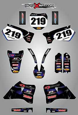 AU179.90 • Buy Yamaha YZ 125 / 250 - 1996 - 2001 Full Custom Graphics Kit BARBED Style Stickers