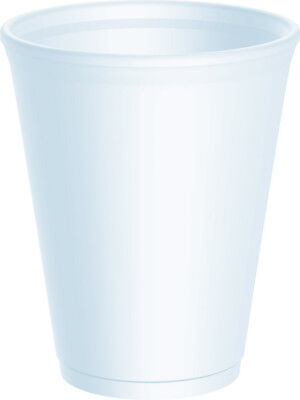 Dart White Disposable Foam Polystyrene Cups Insulated Hot Cold Tea Coffee Party  • 9.95£