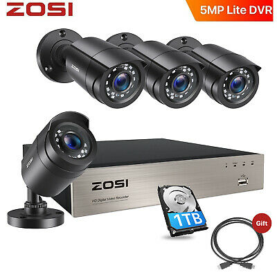 AU247.99 • Buy ZOSI 1T 8CH Firm Shell 1080P 3000TVL Home CCTV Security Camera System TVI System