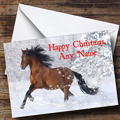 £3.79 • Buy Lovely Horse Christmas Greetings Card Personalised