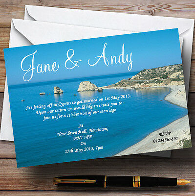 £45.55 • Buy Cyprus Beach Jetting Off Abroad Personalised Wedding Invitations