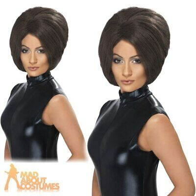 Ladies Posh Spice Girl Wig Victoria Beckham Brown Bob Fancy Dress Accessory New • 10.99£