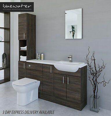£835 • Buy Mali Wenge Bathroom Fitted Furniture 1700mm With Tall Unit
