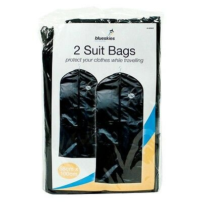 £2.99 • Buy 2 Pack Dress Bag Suit Clothes Bags Travel Protector Carrier Garment Bags Storage
