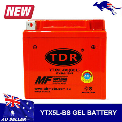 AU28.50 • Buy 12V Motorcycle Motorbike Battery YTX5L-BS YTX5LBS YTZ7S EQUIV TO MBTZ7S