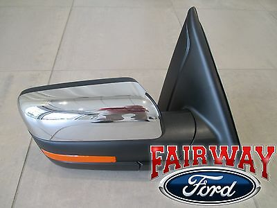 $389.95 • Buy 11 Thru 14 F150 OEM Ford Power Fold Heated Signal Puddle Mirror Passenger Chrome