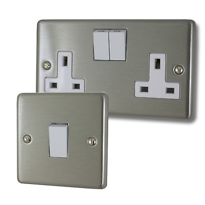 Contour Brushed Steel (White Switches) • 18.73£