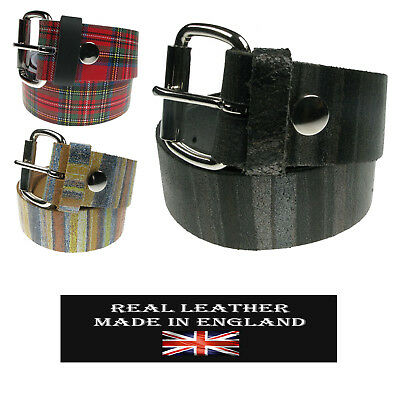38mm Mens New Real Leather High Quality Plain Fashion Belt Made In UK • 14.99£