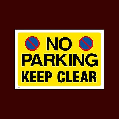 £0.99 • Buy No Parking - Keep Clear Sign, Metal, Foamex, Sticker  A6, A5, A4 (MISC155)