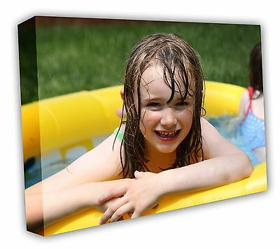 Canvas Print Your Photo On Large Personalised 30mm Deep Framed -a4 A3 A2 A1 A0 • 11£