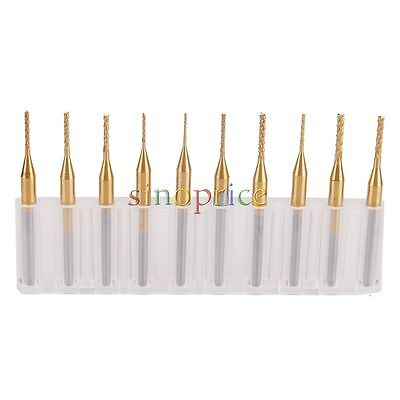 $11.52 • Buy 10pcs 0.6mm-1.5mm Cutting 1/8  Shank Titanium Coating PCB End Mill Engraving