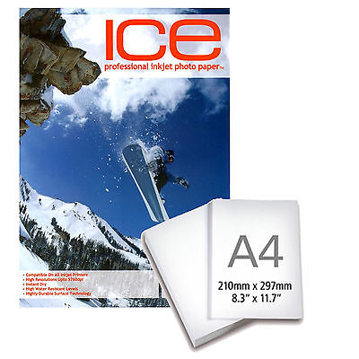 £8.27 • Buy Ice Professional Inkjet Photo Paper Magnetic Backed Gloss 690gsm A4 5 Sheets