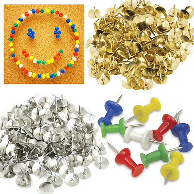 Push Pins Drawing Thumb Map Tack Pin Board Notice Office Paper Stationery Brass • 2.85£