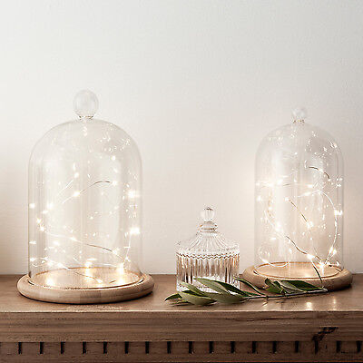 £15.99 • Buy Small Or Large Glass Display Cloche Bell Jar Dome With Wooden Base