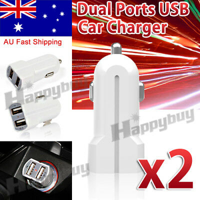 AU5.29 • Buy 2x  Dual USB Car Charger Power Adapter Lighter Socket / Plug / Connect