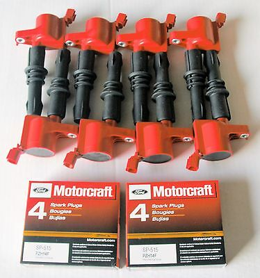 $189 • Buy 2005 Ford F150 5.4l 8+ignition Coils Heavy Duty Red +8 Motorcraft Sp546 New