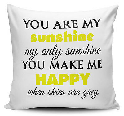 £7.99 • Buy You Are My Sunshine Cushion Cover - 40cm X 40cm