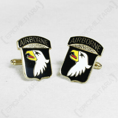 £9.95 • Buy LARGE American Army Cufflinks 101st AIRBORNE DIVISION - WW2 Screaming Eagles