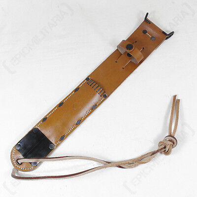 $26.15 • Buy US M6 Brown Leather Sheath - US Army Airborne Paratrooper Knife WW2 Repro