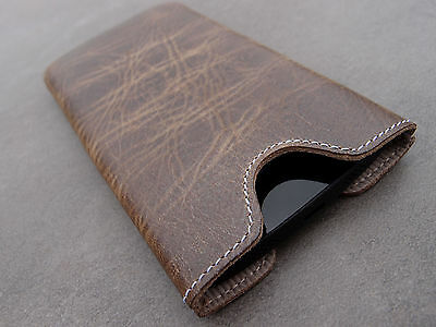 AU42.55 • Buy HTC One Mini (M4) Leather Phone Case Braun Case Skin Cover Wish Engravings
