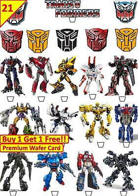 £5.08 • Buy 42 TRANSFORMERS Birthday Cup Cake Fairy Edible Wafer Rice Toppers *STAND UP*