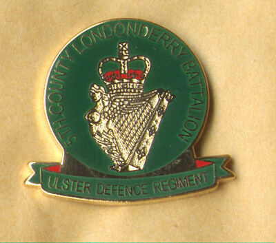 £3 • Buy 5TH County Londonderry Ulster Defence Regiment Udr Enamel Badge British Army