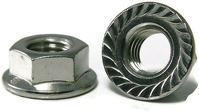 AU3.60 • Buy Qty 1 Hex Serrated Flange Nut M8 (8mm) Stainless Steel SS 304 A2 7
