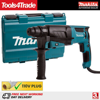 View Details Makita HR2630 SDS + 3 Mode Rotary Hammer Drill Heavy Duty 110V With Case • 113.00£