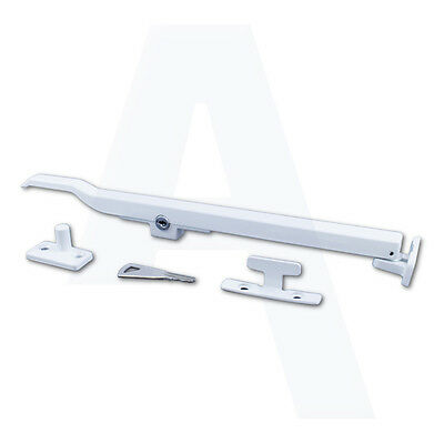 Asec Locking Window Casement Stay Fastener Handles White AS10294 • 11.99£