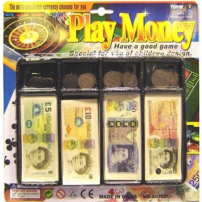 £3.98 • Buy Kids Play Money Till Set Toy Coins Notes Pounds Penny Children Pretend Play Cash