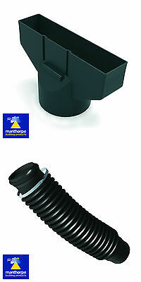 Manthorpe Roof Tile Vent Adaptor & Flexible Pipe 110mm Soil - Extraction  • 11.70£