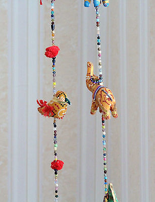 Birds / Elephants Multi - Colourful Wall Hangings Decoration Indian Handmade • 3.99£
