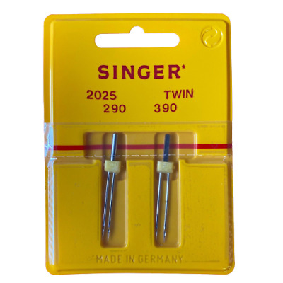 Singer Twin Sewing Machine Needles X 2 (2mm + 3mm, Size 90) -BUY 2, GET 3rd FREE • 3.99£
