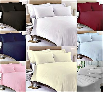 400 Thread Count 100% Cotton Fitted Sheet Flat Sheet Single Double King Super • 12.99£
