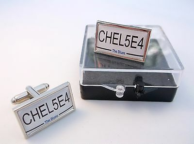 £10.99 • Buy Chelsea Number Plate Style Mens Cufflinks Cuff Links Badge Gift