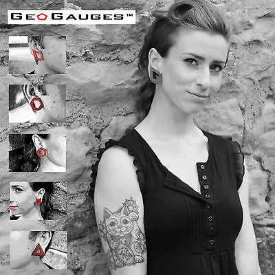 $9.99 • Buy 5 Pair Set Of GeoGauges Brand Silicone Tunnels Ear Plugs Gauges Body Jewelry