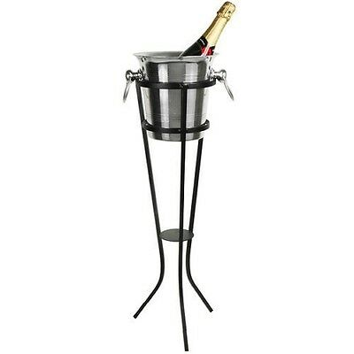 Wrought Iron Champagne Ice Bucket Or Stand Or Wine Cooler Set (Stand And Bucket) • 9.99£